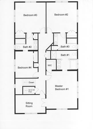 4 Bedrooms are well planned on the second floor of this modular home