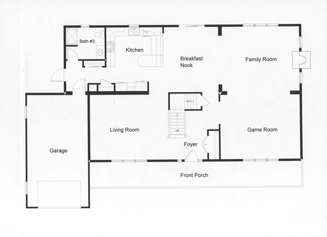 Open floor plan allows easy traffic flow.