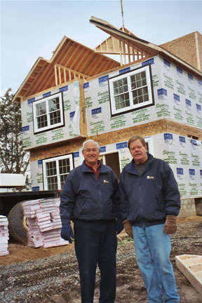Bill Lashovitz and Bob Dull on site. RBA builds custom built modular homes in central New Jersey.