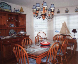 Dining in the home of the month in Ocean County NJ, by RBA Homes