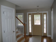 Custom glass can be part of modular homes from RBA Homes in Central New Jersey.