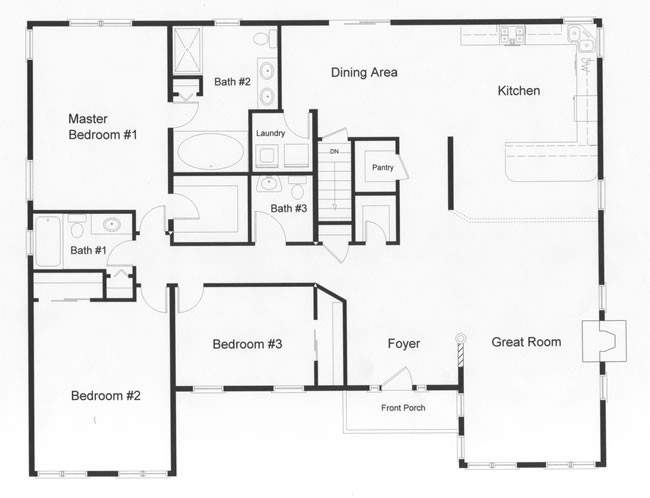 four modular sections make the expansive open floor plan possible the huge master bedroom includes