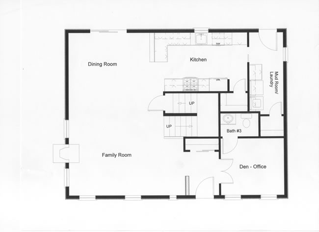 effective use of space was provided in this open floor plan excellent traffic flow for - Open Floor Plans