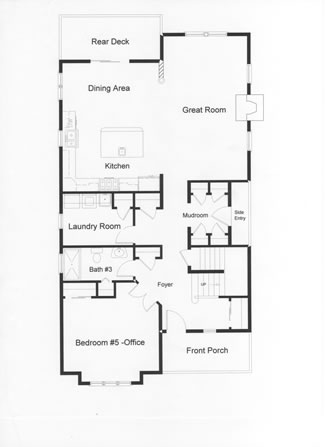House Plans One Level Open Concept Lake Html on