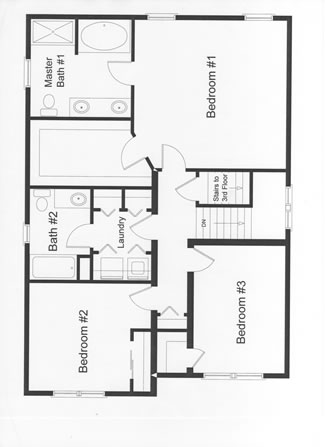 3 Bedroom Floor Plans on 300 square foot house plans