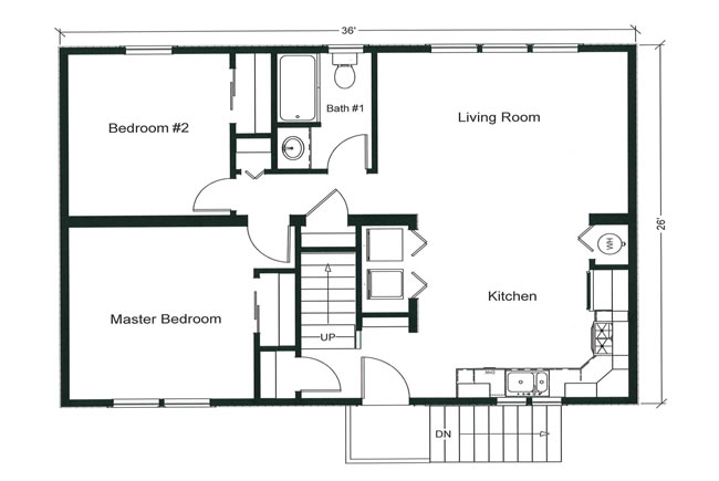 open modular floor plan has the potential to be 4 bedrooms with the optional finished 2nd - Second Floor Floor Plans 2