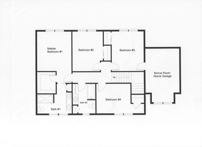 Floor plan shows how you can effectively utilize the modular home concept to design more living space into the home. The bonus room over the garage provides excellent storage space or a 5th bedroom.