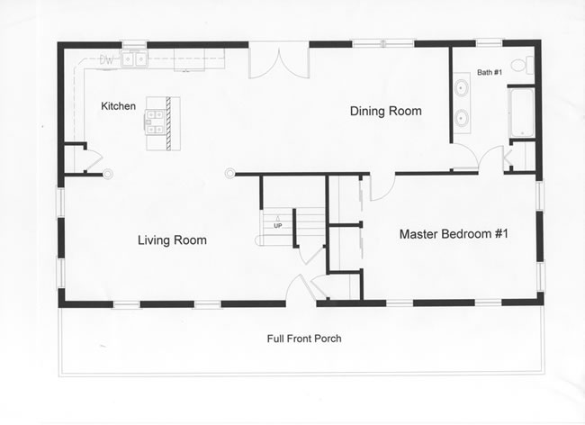 Cape floor plans monmouth county ocean county new Open floor plans for colonial homes