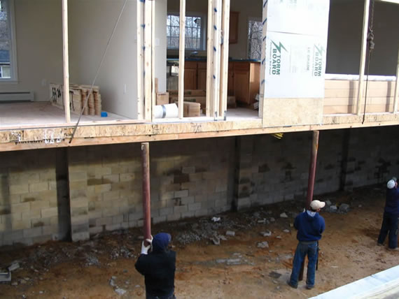 modular home foundation construction