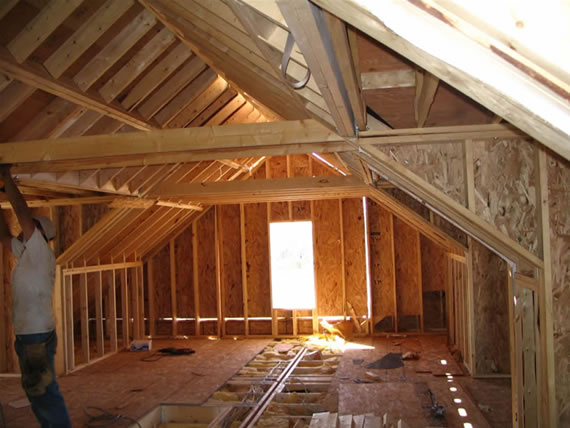 completing construction of the attic