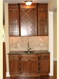 For those that entertain often, this wet-bar/service area adds an elegant and practical touch to any home