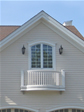 Monmouth County, Monmouth Beach house built with a small balcony designed off the second floor master bedroom
