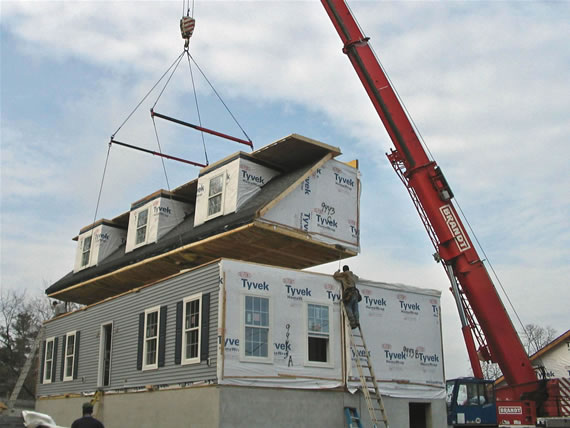 Modular home modular homes dormers for Prefabricated roofs