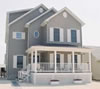 5 or 6 bedroom  modular home open floor plan, 3 floors comprising 3,200 square ft. of habitable space.