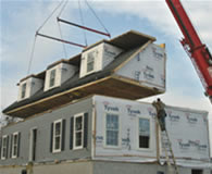 Custom modular home construction Delivery and Set